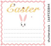 festive easter card with the...   Shutterstock .eps vector #1669530844