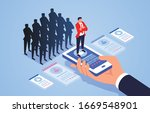 human resources recruitment and ... | Shutterstock .eps vector #1669548901