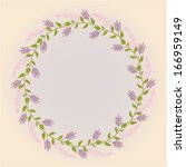 a wreath of wild flowers and... | Shutterstock .eps vector #166959149