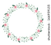 a wreath of wild flowers and... | Shutterstock .eps vector #166959155