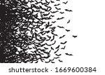 Black Silhouette Of Flying Bats ...