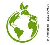 green earth  green leaf art....   Shutterstock .eps vector #1669609507