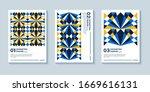set of three abstract retro... | Shutterstock .eps vector #1669616131