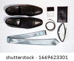 the layout of men's clothing...   Shutterstock . vector #1669623301