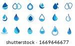 set of water drop logo design... | Shutterstock .eps vector #1669646677