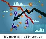 stock markets plunge from novel ...   Shutterstock .eps vector #1669659784