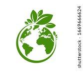 ecology world symbol  icon. eco ...   Shutterstock .eps vector #1669666624