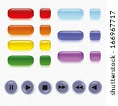 set of buttons on a seamless... | Shutterstock .eps vector #166967717