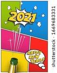 2021 new year vertical postcard ...   Shutterstock .eps vector #1669683331