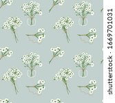hand drawn bouquets of white...   Shutterstock .eps vector #1669701031