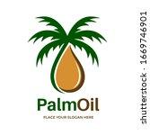 palm oil vector logo template.... | Shutterstock .eps vector #1669746901