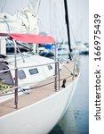 Beautiful Wooden Sailboat On...