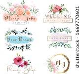 vector watercolor logo design... | Shutterstock .eps vector #1669770601