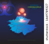 coronavirus in germany.... | Shutterstock .eps vector #1669789327