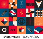seamless geometric patterns... | Shutterstock .eps vector #1669793527