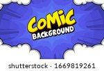 pop art comic background with... | Shutterstock .eps vector #1669819261