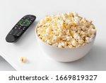 Popcorn Bowl And Remote Contro...