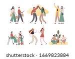 set of vector illustrations... | Shutterstock .eps vector #1669823884