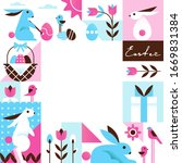 bright colorful easter... | Shutterstock .eps vector #1669831384