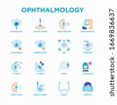 ophthalmology flat icons set ...   Shutterstock .eps vector #1669836637