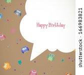 vector illustration of a happy... | Shutterstock .eps vector #166983821