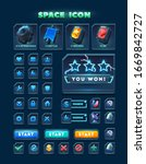 set of icons and buttons for...
