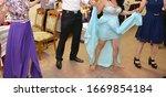 people dancing at the wedding... | Shutterstock . vector #1669854184