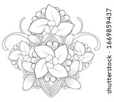 simple hand drawn flowers for...   Shutterstock .eps vector #1669859437