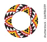 circle ornament. round frame ... | Shutterstock .eps vector #166986359