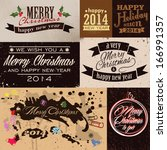 merry christmas and happy new...   Shutterstock .eps vector #166991357