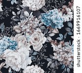 seamless floral pattern with... | Shutterstock . vector #1669916107