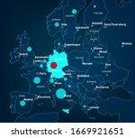 coronavirus map. germany... | Shutterstock .eps vector #1669921651