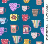 vector seamless pattern of...   Shutterstock .eps vector #1669930564