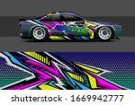 Car Wrap Design. With Abstract  ...