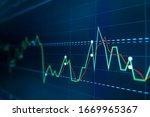 blue stock exchange market... | Shutterstock . vector #1669965367