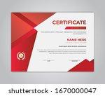 creative certificate of... | Shutterstock .eps vector #1670000047