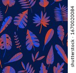 exotic abstract tropical... | Shutterstock .eps vector #1670020084