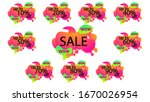 bright mega sale set of vector... | Shutterstock .eps vector #1670026954
