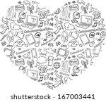 various communication internet... | Shutterstock .eps vector #167003441