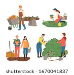 agriculture and farming raster  ... | Shutterstock . vector #1670041837