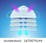 protective mask and multi ayer... | Shutterstock .eps vector #1670074144
