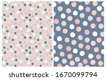 Cute Pastel Color Dots Seamless ...