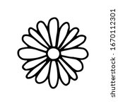 Daisy Flower In The Doodle...