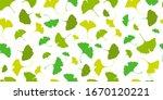 ginkgo biloba seamless up... | Shutterstock .eps vector #1670120221