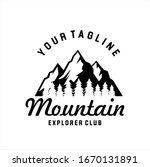 mountains logo emblem vector... | Shutterstock .eps vector #1670131891