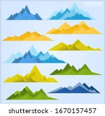 set of mountains in different... | Shutterstock .eps vector #1670157457