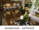living room with kitchen in the ... | Shutterstock . vector #16701625