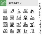 refinery simple icons set.... | Shutterstock .eps vector #1670166697