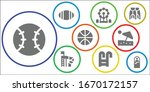 recreation icon set. 9 filled... | Shutterstock .eps vector #1670172157