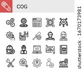 set of cog icons. such as gear  ... | Shutterstock .eps vector #1670173981